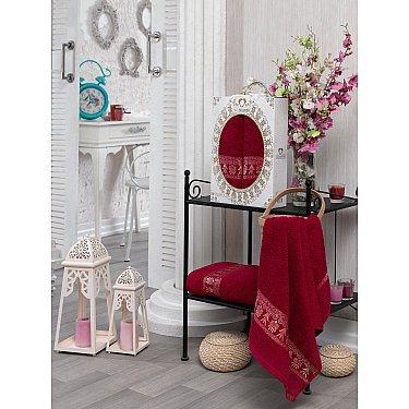 Комплект махровых полотенец TWO DOLPHINS TALISCA (50*90; 70*140), бордовый