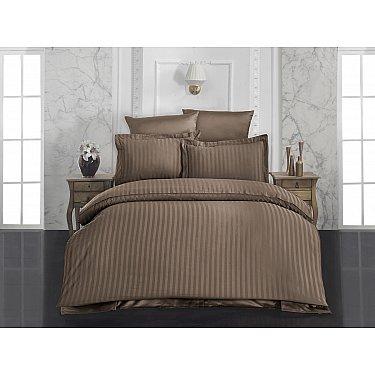 Комплект постельного белья KARNA PERLA Бамбук (Евро), коричневый