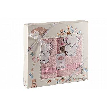 "Комплект полотенец ""KARNA BAMBINO-SLON"" (50*70; 70*120 см), розовый"