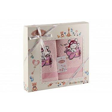"""Комплект полотенец """"KARNA BAMBINO-SAMALOT"""" (50*70; 70*120 см), розовый"""