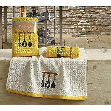 "Набор кухонных полотенец ""KARNA LEMON"" Желтый, v2, 45*65 см - 2 шт"