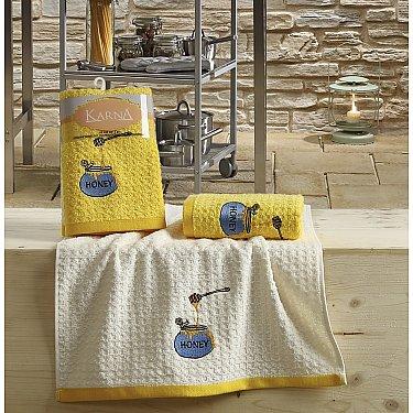 "Набор кухонных полотенец ""KARNA LEMON"" Желтый, v3, 45*65 см - 2 шт"