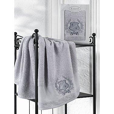 "Полотенце махровое в коробке ""KARNA DAVIS"", серый, 50*90 см"