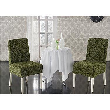 """Набор чехлов на стулья """"KARNA MILANO"""", зеленый"""