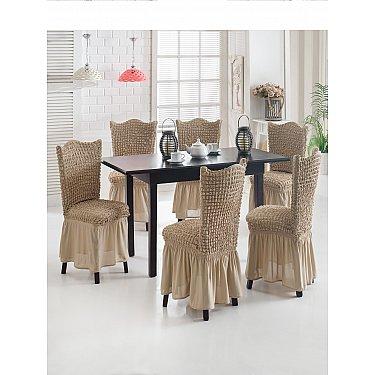 """Набор чехлов на стулья """"JUANNA"""", серо-коричневый"""