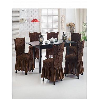 """Набор чехлов на стулья """"JUANNA"""", шоколадный"""