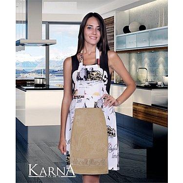 """Комплект для кухни """"KARNA"""" с салфеткой, бежевый"""