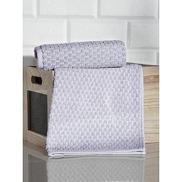 """Полотенце кухонное махровое с жаккардом """"KARNA DAMA"""", серый, 40*60 см"""
