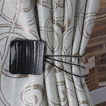 Подхват магнитный дерево Ajur MI M23, черный, серебряный