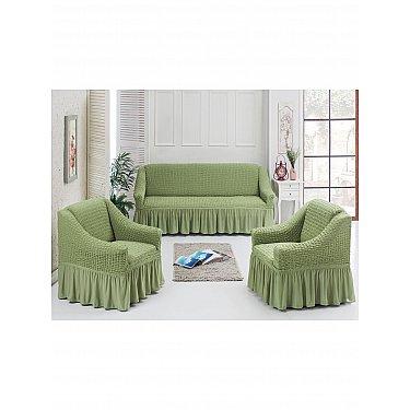 Набор чехлов для дивана и кресел JUANNA 3+1+1, фисташковый