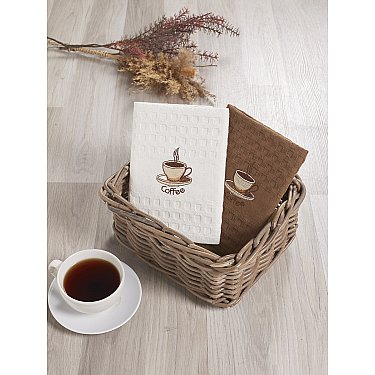 """Набор кухонных вафельных полотенец """"KARNA SALVA"""", v1, 45*65 см - 2 шт"""