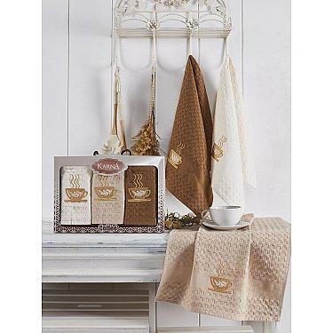 """Набор кухонных вафельных полотенец """"KARNA SALVA"""", v2, 45*65 см - 3 шт"""