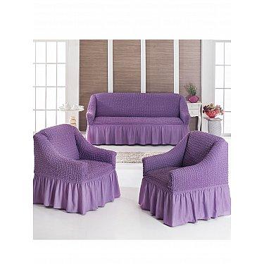 """Набор чехлов для дивана и кресел """"JUANNA"""" 3+1+1, лиловый"""