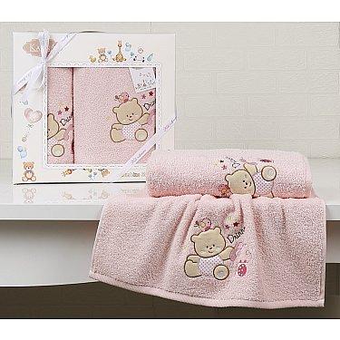"""Комплект полотенец детский """"KARNA BAMBINO-BEAR"""" (50*70; 70*120), розовый"""