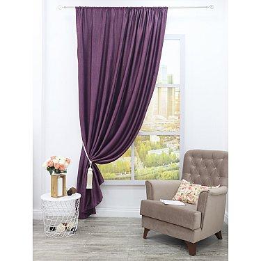 Шторы блэкаут Amore Mio RR Y115-18, фиолетовый, 200*270 см