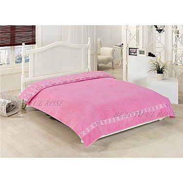 """Махровое покрывало """"ROSE KARDELEN"""", розовый, 200*220 см"""