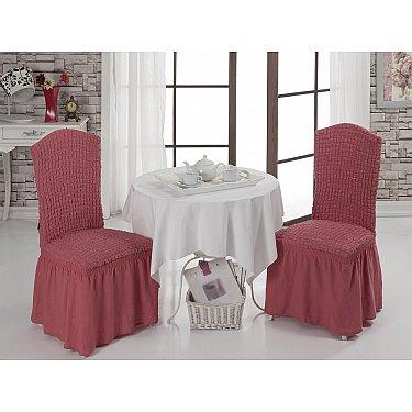 Набор чехлов на стулья 1/2, грязно-розовый