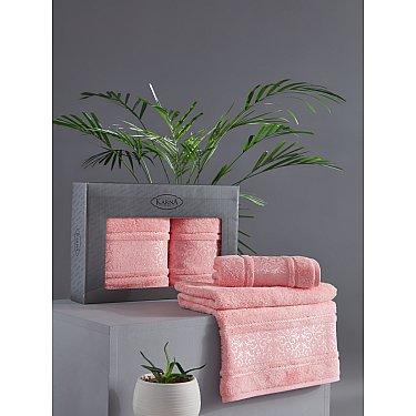 "Комплект из 2-х полотенец бамбук ""KARNA ARMOND"" (50*90; 70*140), коралловый"