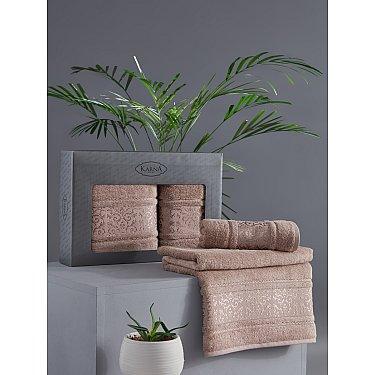 "Комплект из 2-х полотенец бамбук ""KARNA ARMOND"" (50*90; 70*140), капучино"