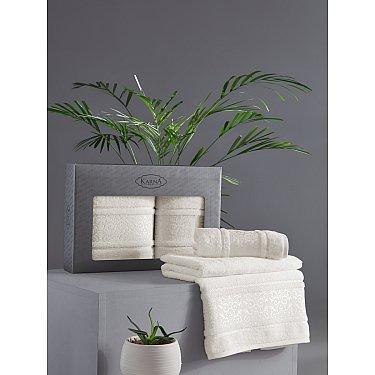"""Комплект из 2-х полотенец бамбук """"KARNA ARMOND"""" (50*90; 70*140), кремовый"""