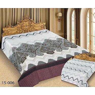 Покрывало Barokko №15-006, белый, серый