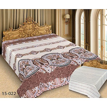 Покрывало Barokko №15-022, белый, коричневый