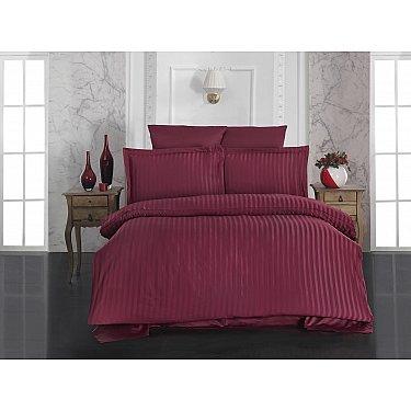 Комплект постельного белья KARNA PERLA Бамбук (Евро), бордовый