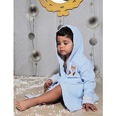 """Халат махровый детский с капюшоном """"KARNA TEENY"""", голубой"""