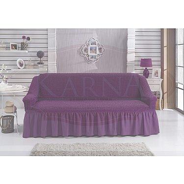 """Чехол для дивана """"BULSAN"""" трехместный, фиолетовый"""