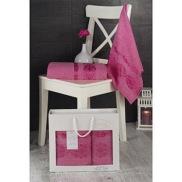 """Комплект махровых полотенец """"KARNA REBEKA"""" (50*90; 70*140), розовый"""