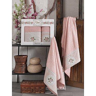 Комплект бамбуковых полотенец SIKEL KANAVICE (50*90; 70*140), пудра