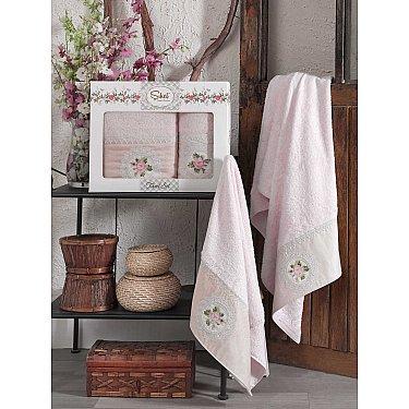 Комплект бамбуковых полотенец SIKEL KANAVICE (50*90; 70*140), персиковый
