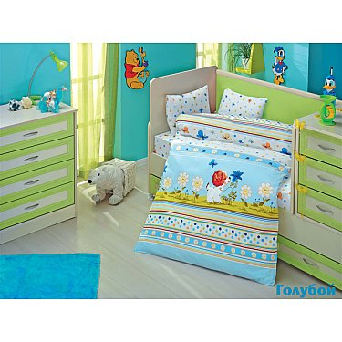Комплект постельного белья Altinbasak GULUCUK (Новорожденный), голубой