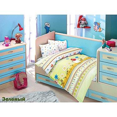 Комплект постельного белья Altinbasak GULUCUK (Новорожденный), зеленый