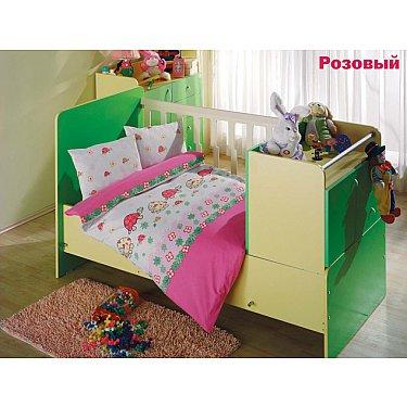 Комплект постельного белья Altinbasak NESELI (Новорожденный), розовый
