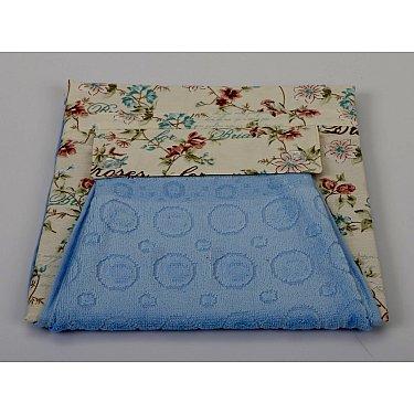 """Комплект для кухни """"KARNA"""" с салфеткой, голубой"""