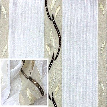 Тюль Amore Mio RR 61030-297 ut, коричневый, белый, 300*270 см
