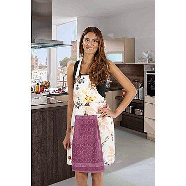 """Комплект для кухни """"KARNA"""" с салфеткой, грязно-розовый"""