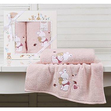 """Комплект полотенец детский """"KARNA BAMBINO-BUNNY"""" (50*70; 70*120), розовый"""