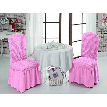 Набор чехлов на стулья 1/2, светло-розовый