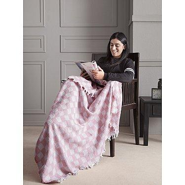 """Плед хлопок """"KARNA ISABELLA"""", розовый, 130*150 см"""