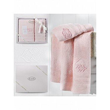 """Комплект из 2-х махровых полотенец """"KARNA DERIN"""" (50*90; 70*140), розовый"""