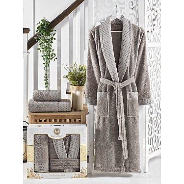 Набор из мужского халата и полотенец Philippus Lenny, серый