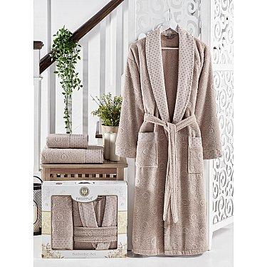 Набор из мужского халата и полотенец Philippus Lenny, коричневый