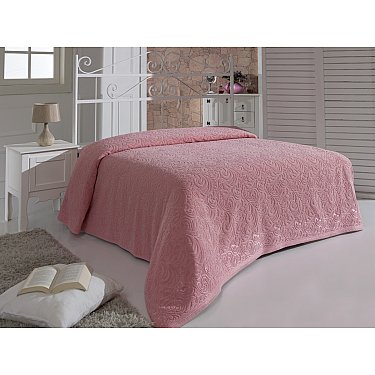 """Простынь махровая """"KARNA ESRA"""", розовая, 160*220 см"""