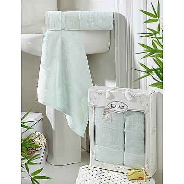 "Комплект полотенец бамбук ""KARNA PANDORA"" (50*90; 70*140), ментол"