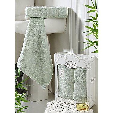 """Комплект полотенец бамбук """"KARNA PANDORA"""" (50*90; 70*140), светло-зеленый"""