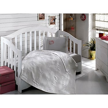 Покрывало+КПБ Hello Kitty Bebe, белый, 100*120 см