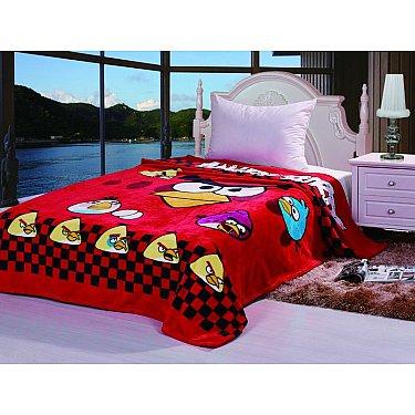 Плед детский Angry Birds №03, красный, 150*200 см