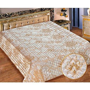 Покрывало I.M.A. Жаккард-атлас №210-1, белый, золотой